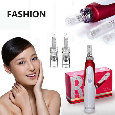 New  Anti Aging Electric Derma Pen Stamp Auto Micro Needle Roller Facial Care  S