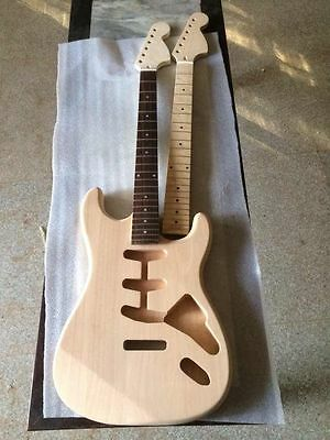 Unfinished electric guitar Excellent handcraft one neck and one body 112212