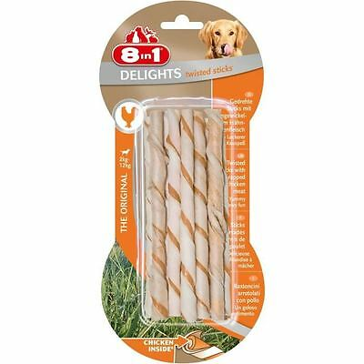 8in1 Delights Twisted Sticks 10pcs Os a mâcher pour chien