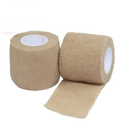 """24 Rolls/Pack Self Adhesive Non Woven Cohesive Bandage 2""""X5 Yards Skin Color"""