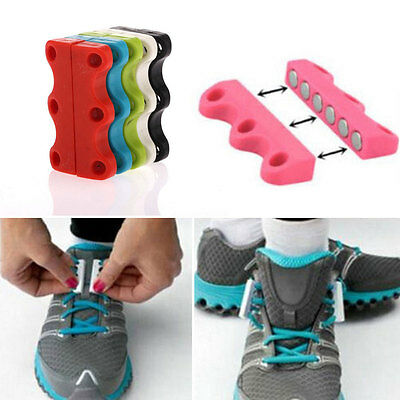 Fashion Lazy Magnetic Shoelace Shoe Buckles Casual Sneaker Closure No-Tie Lace
