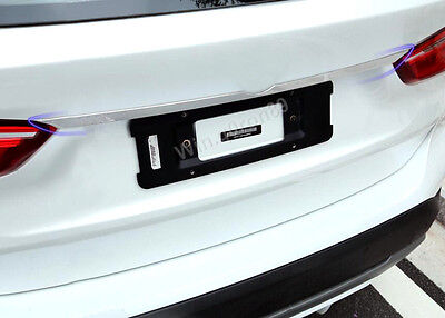 For BMW X1 F48 2016 2017 Stainless Steel Rear Trunk Lid Molding Cover Trim NEW!!