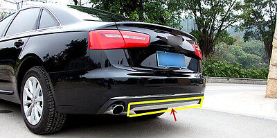 For Audi A6 C7 2012- 2015 Stainless Exterior Chrome Rear Trunk bottom Cover Trim