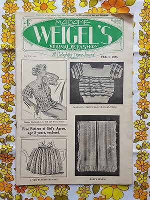 MADAME WEIGEL'S JOURNAL OF FASHION February 1, 1935 vintage pattern magazine