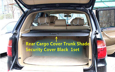 For BMW X5 F15 2014 2015 Black Rear Cargo Cover Trunk Shade Security Cover 1set