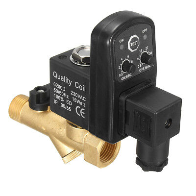 1/2'' AC 220V Automatic Electronic Gas Tank Drain Valve Timed Air Compressed