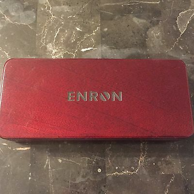Enron Collectible Wood Barrington Pen Case (No Pen) Commemorative