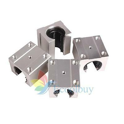 Pack of 4 SBR20UU 20mm Aluminum Open Linear Router Motion Bearing Shaft Block US