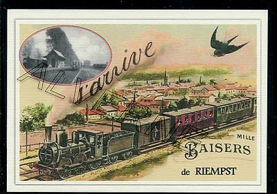 RIEMPST --  ....  TRAIN  ...  souvenir creation moderne serie numerotee