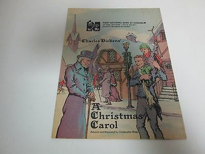 First National Bank Chisholm DICKENS A CHRISTMAS CAROL STORY BOOK 1979 NUPACO