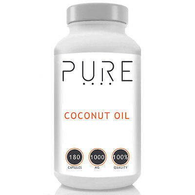 COLD PRESSED UNREFINED EXTRA VIRGIN RAW COCONUT OIL 1000MG CAPSULES x 120