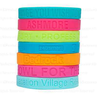 50 Silicone Wristbands Awareness Bands  Personalized for your Event or Team!