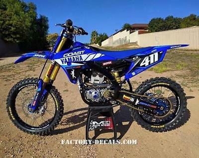 Yamaha Coast YZF YZ WR 125 250 450 Graphics Decals any year 1990-present