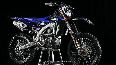Yamaha Monster YZF YZ WR 125 250 450 Graphics Decals any year 1990-present