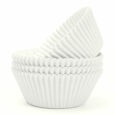 100Pcs  White Paper Cake Cup Cupcake Cases Baking Muffin Dessert Party Wedding