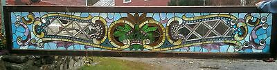 Great 8 Foot Beveled And Stained Combination Window