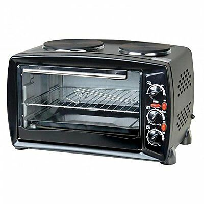 Oypla 26 Litre Electrical Mini Compact Oven Kitchen Mate c/w 2 Hot Plates And