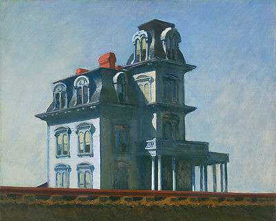 Bates Motel House By Railroad Edward Hopper Painting 8x10 Real Canvas Art Print