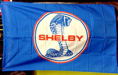 SHELBY COBRA FORD MUSTANG GT 350 500 3' X 5' BANNER FLAG home garage wall decor