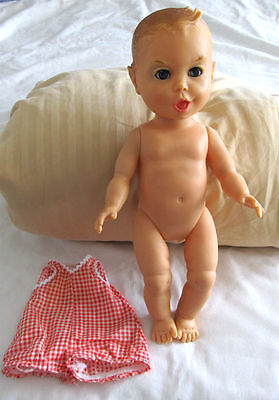 1965 GERBER Baby Rubber Soft Plastic DOLL with SQUEAKER!