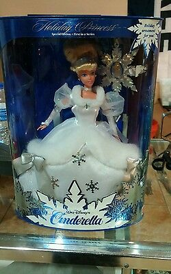 Disney Cinderella Barbie Doll Holiday Princess Premier Edition New Nib