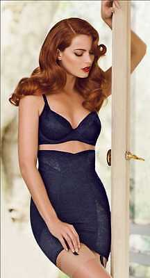 SCANDALE Harmonie S - 2XL_ Cream, Navy, Rose _ Open Girdle High Waist Lace _ NWT