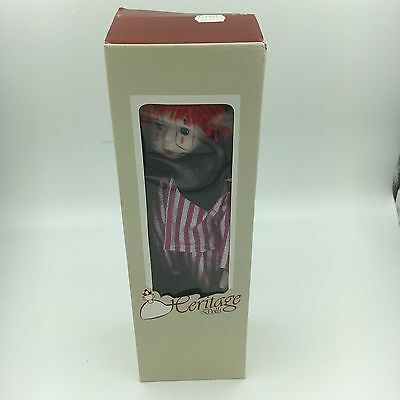 Heritage Doll Porcelain Clown New In Box Hand Painted Collectible Circus