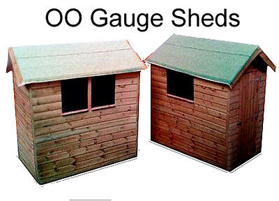 Model Railway Shed x 4 - OO Gauge Suits Hornby - Scenery / Garden Shed