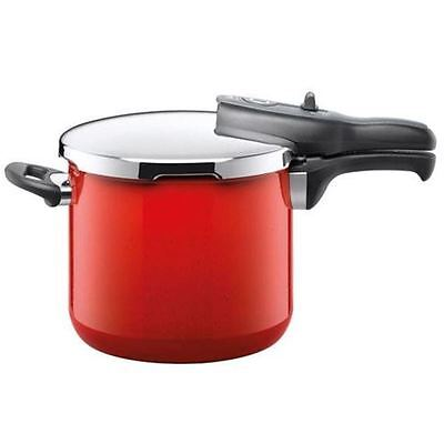 Silit - Energy Red Sicomatic t-plus Pressure Cooker 6.5Ltr (Made in Germany)