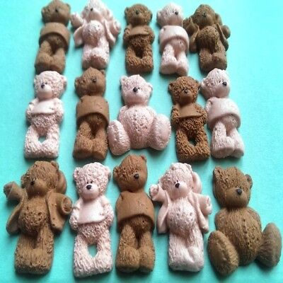 22 Edible sugar birthday baby shower decorations teddy bears cake cupcake topper