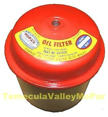 Sealed-Can Oil Filter w/MoPar Decal For 1933-1940 Ply - Dodge - DeSoto - Chrys