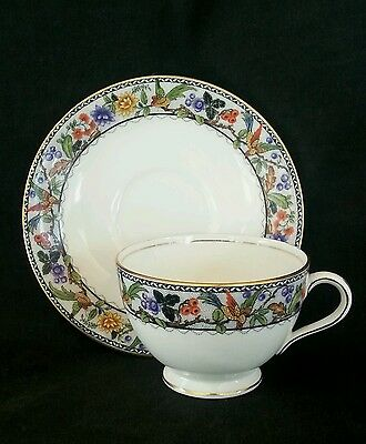 Vintage Aynsley England bone china tea cup & saucer, circa 1950's