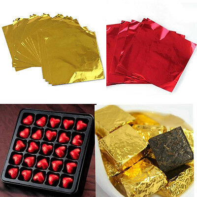 "100pcs  3""X 3"" Square Candy Sweets Chocolate lolly Confectionary Foil Wrappers"