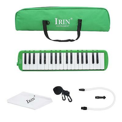 37 Keys Piano Melodica Pianica with Carrying Bag for Beginners Green W7J2