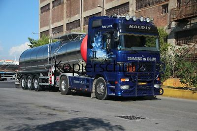Truck Photo - Lkw Foto MB Actros MP1 Diamond in Blue Ex-Jelitto Griechenl. /570