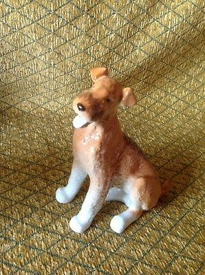 """7"""" Tall Ceramic Airedale Dog"""