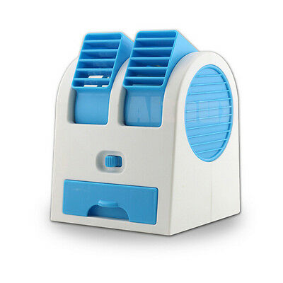Mini Cooling Well USB  Fan Portable Air Conditioner Cooler Bladeless Blue
