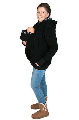 Multifunctional Black Kangaroo Babywearing Jacket FRONT/BACK Maternity Pregnancy