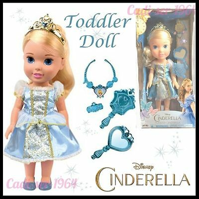 Disney Princess Cinderella Deluxe 30cm Toddler Doll & Jewellery & Mirror NEW