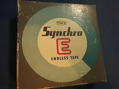 synchro endless tape vintage tape as new, box with scuffing .