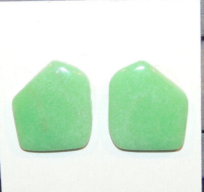 Chrysoprase Cabochons 18x16mm with 3mm dome (11357)