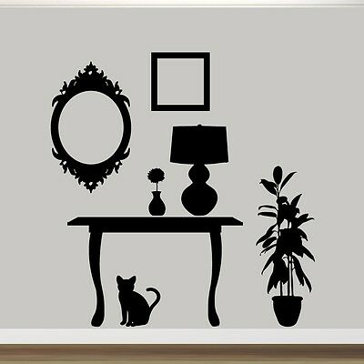Furniture Silhouettes Wall Decals Wall Stickers