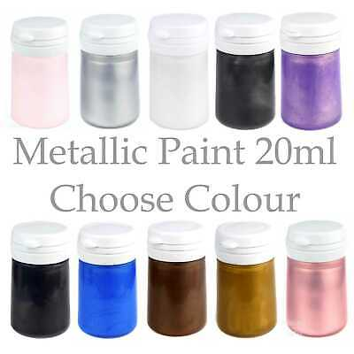 BabyRice Metallic Paint Colours 20ml Hand Foot Cast Craft Plaster Casting Model