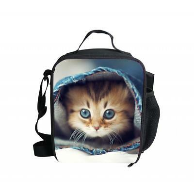 Portable Cat Thermal Cooler Insulated Tote lunch Box Picnic Bag Travel #6