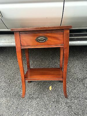 Great Old Mahogany 1 Drawer Night Stand