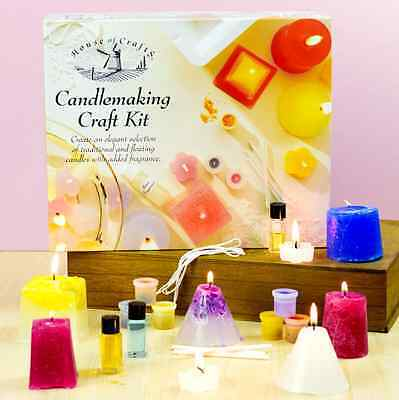Candlemaking Craft Kit - Wax Candle Making Scented Candles - Moulds Set Gift Her