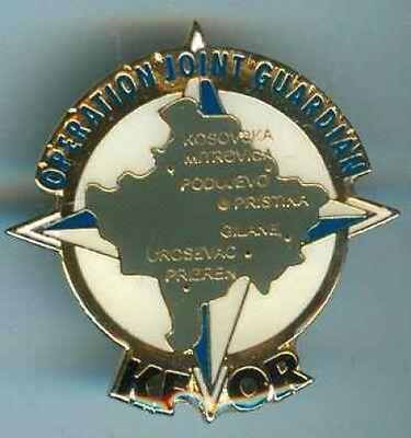NATO:KFOR:Operation Joint Guardian,Brosche  45 mm
