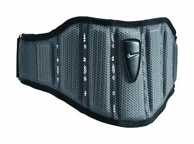 """NIKE Structured SUPPORT 4"""" Large Strength TRAINING BELT Gray Weight New w/ tags"""