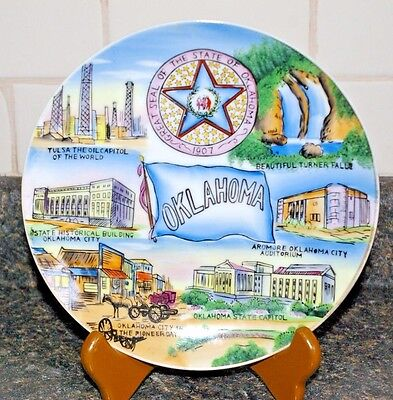 Wales, made in Japan, Souvenir Plate -  Oklahoma