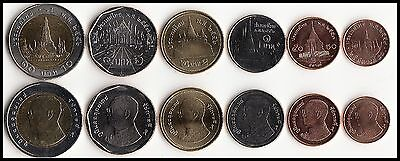 THAILAND NEW CURRENT CIRCULATION COIN SET (total of 6 coins) 2009 SERIES